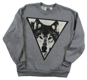 Image of UNISEX GREY WOLF CREWNECK