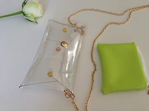 Image of Mini Clear Clutch/Chain Bag