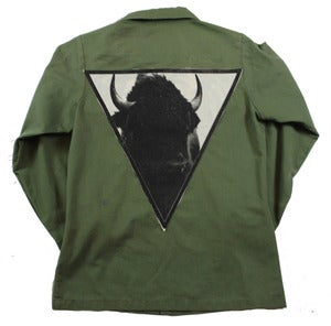 Image of GREEN BUFFALO ARMY JACKET 