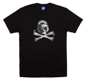 Image of BODEGA JOLLY ROGER TEE BLACK