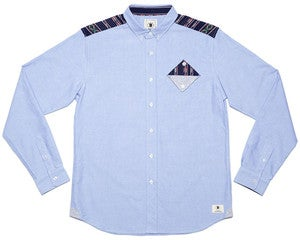 Image of BODEGA POCKET L/S OXFORD SHIRT