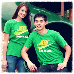 "Image of ""Brand Wars: Jedi"" - Kelly Green tee"