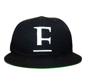 Image of E Logo Strap Back Black