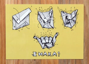 Image of Origami Shaka Notecard
