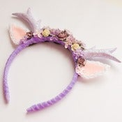 Image of Lilac Floral Deer Headband