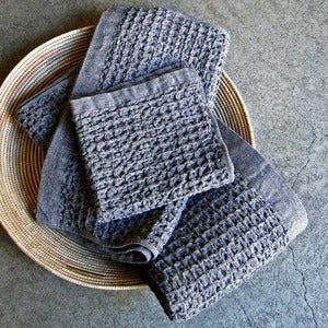 Image of organic lattice-weave bath towel