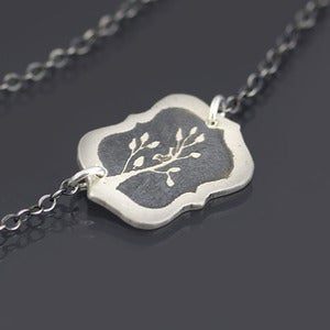 Image of Framed Bird on Branch Necklace