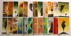 Image of Set Of Four Obsolete World Fine Art Note cards