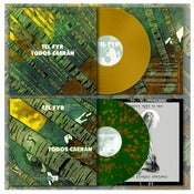 "Image of DK040: Tel Fyr / Todos Caerán - Split 12"" LP - Opaque Gold /100, Green w/ Bronze Splatter /200"