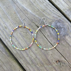 Image of Fiesta Hoop Earrings
