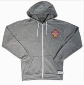 Image of Lucky Pussy Dojo crest Zip Up Hoody