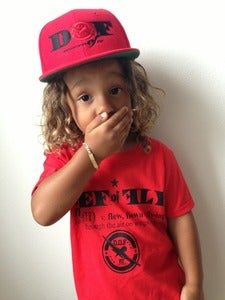 Image of Red & Black Definition of Fly Youth SnapBack Cap