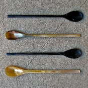 Image of long-handled horn spoons