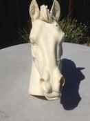 Image of TALY VTG STALLION HORSE HEAD ALABASTER STATUE Sculp A.GIANNELLI ART