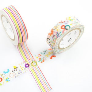 Image of Colorful Pattern Washi Tape