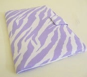 Image of Lavender and White Zebra Print Kindle Fire HD Cover