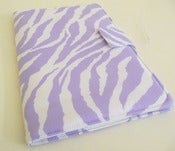 Image of Nook HD Cover in Lavender and White Zebra Print