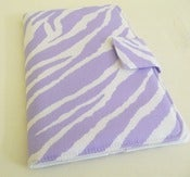 Image of Lavender and White Zebra Print Cover for Kindle Fire