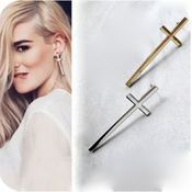 Image of Don't Cross Me Earrings (Gold, Silver)