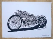 Image of Signed CFH Dragbike Screenprint limited edition of 5