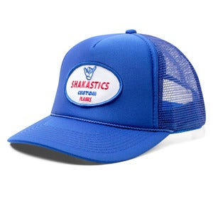 Image of Oval Logo Trucker Hat - Blue