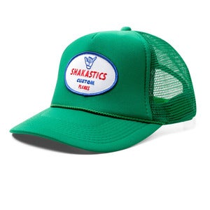 Image of Oval Logo Trucker Hat - Green