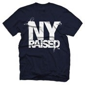 Image of New York Raised - Navy Blue & White