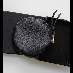 Image of Black round purse