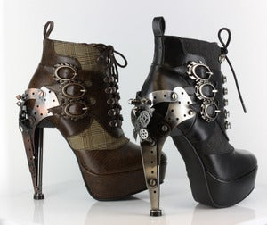 Image of Hades OXFORD Gothic Steampunk Ankle Boots