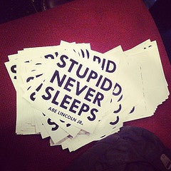 Image of Abe Lincoln Jr. Stupid Never Sleeps Stickerpack!