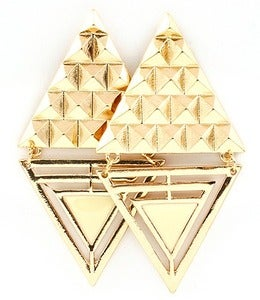Image of ABSTRACT TRIANGLE EARRINGS