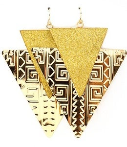 Image of LAYERED TRIANGLE EARRINGS