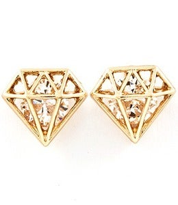 Image of DIAMOND STUD EARRINGS