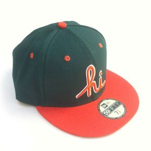 Image of IN4MATION - HI NEW ERA HAT (GRN/ORG)