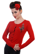 Image of Banned Red Anchor Cardigan