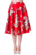 Image of Hell Bunny 'Candy' Skirt - Red