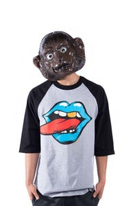 Image of Loud Mouth Raglan - Black/Grey