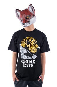 Image of Crime Pays Tee - Black