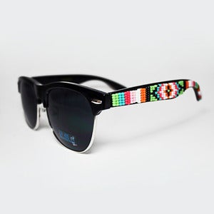 Image of Beaded Rimless Sunglasses