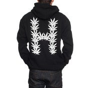Image of HUF - LEAVES ZIP HOODIE (BLACK)