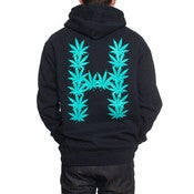 Image of HUF - LEAVES ZIP HOODIE (NAVY)