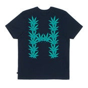 Image of HUF - LEAVES TEE (NAVY)