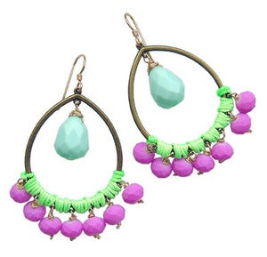 Image of *NEW* Jia Earrings (blue & purple)