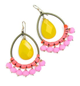 Image of *NEW* Jia Earrings (yellow & pink)