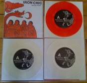 "Image of Iron Chic - Spooky Action 7"" RED or CLEAR Vinyl"