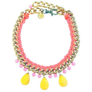 Image of *NEW* Jia Necklace  (pink & yellow)