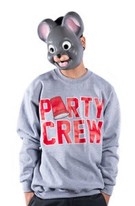 Image of Party Crew Crew - Grey &amp; Red