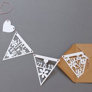 Image of Papercut 'Save The Date' Wedding Bunting