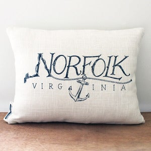 Image of Norfolk, Virginia Pillow Cover