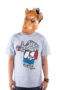 Image of Party Elephante Tee - Grey